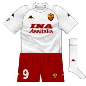 2000-01 Roma away (alternative shorts)