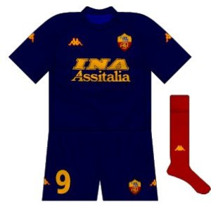 2000-01 Roma third (alternative socks)