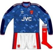 1991-92 goalkeeper change shirt