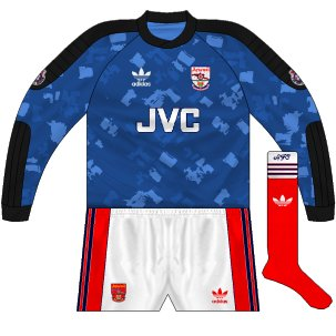 1990-91 goalkeeper change shirt