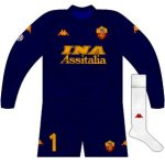 2000-01 Roma goalkeeper kit (Antonioli, pre-season)