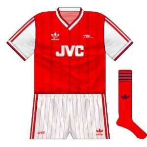 The 1986-88 Arsenal home kit...