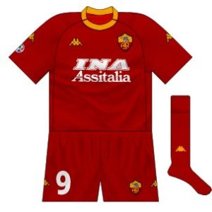 2000-01 Roma home (alternative shorts)
