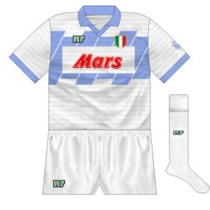 1990-91 Napoli away (white shorts)