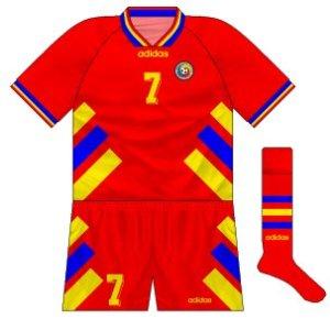 1994-96 Romania away