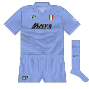 1990-91 Napoli home (blue shorts)