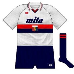 1990-91 Genoa away