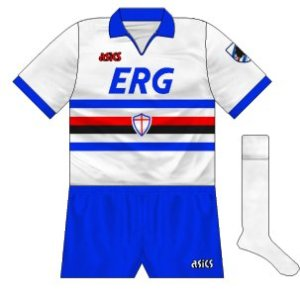1990-91 Sampdoria away