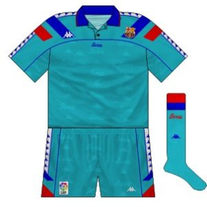 1992-95 Barcelona home kit