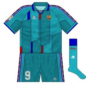 1995-97 Barcelona away kit