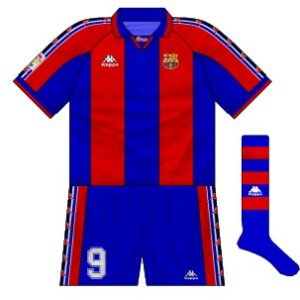 1995-97 Barcelona home kit