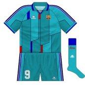 1995-97 Barcelona European away kit