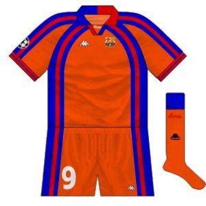 1997-98 Barcelona European away kit