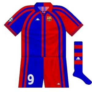 1997-98 Barcelona European home kit