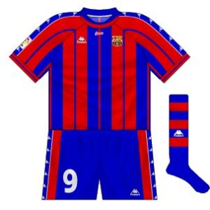 1997-98 Barcelona home kit