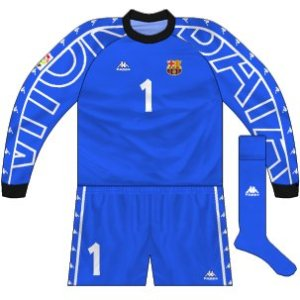 1997-98 Barcelona goalkeeper kit (Vitor Baia)