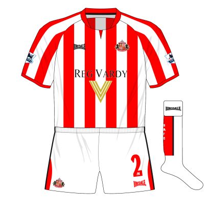 Sunderland-Lonsdale-alternative-home-kit-white-shorts-socks-Highbury-Arsenal-2005