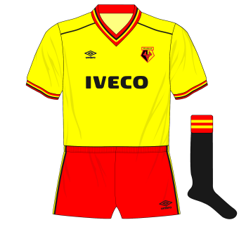 1983-1985-Watford-Umbro-home-kit-black-socks-Manchester-United