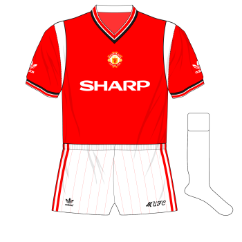 1984-1986-adidas-Manchester-United-home-kit-shirt-white-change-socks-Watford
