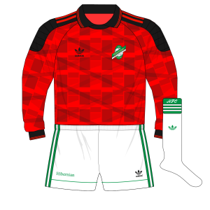 adidas-Hibernian-red-goalkeeper-shirt-1991-Burridge