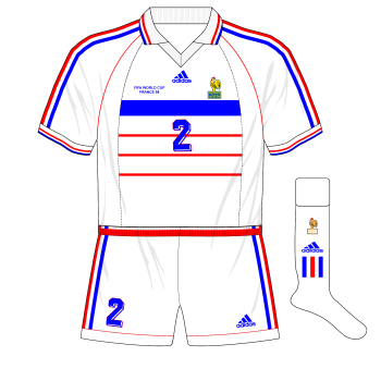 adidas-1998-France-away-maillot-shirt-World-Cup-white-shorts-Italy