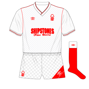 1987-1988-Nottingham-Forest-away-kit-Umbro-Shipstones-white-shorts-red-socks-Southampton-01