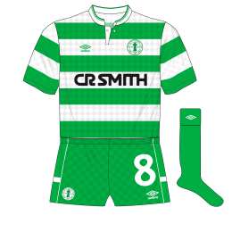Celtic-Umbro-1988-1989-home-kit-shirt-centenary-crest-green-socks-shorts