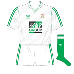 Hibernian-adidas-1987-1989-away-kit-shirt-Frank-Graham-Group-white-shorts-green-socks