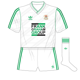 Hibernian-adidas-1987-1989-away-kit-shirt-Frank-Graham-Group-white-shorts-socks