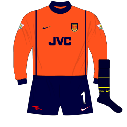 Arsenal-Nike-1998-1999-orange-goalkeeper-shirt-kit-01