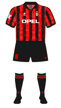 AC-Milan-1994-1995-Lotto-home-kit-black-shorts-socks-Ajax-Champions-League-group-01