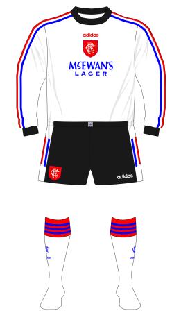 Rangers-1996-1997-adidas-goalkeeper-white-Goram-black-shorts-01